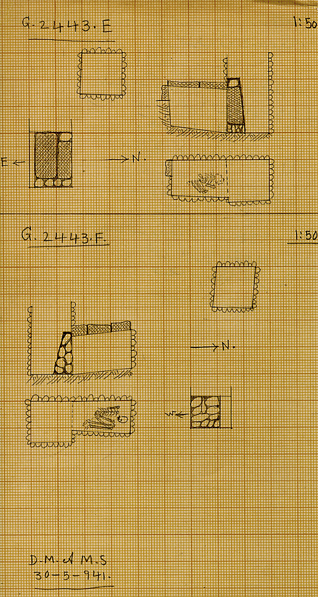 Maps and plans: G 2443, Shaft E and F