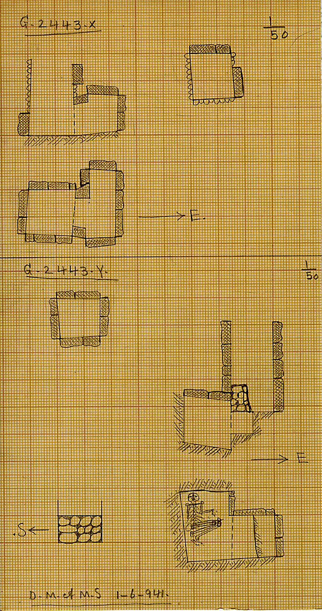 Maps and plans: G 2443, Shaft X and Y