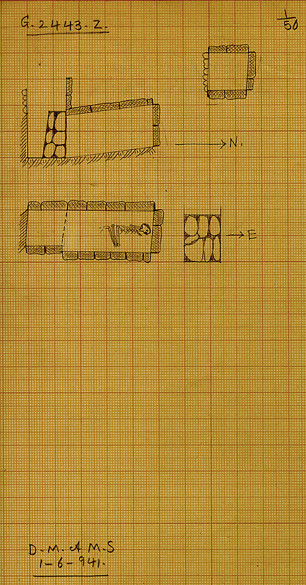 Maps and plans: G 2443, Shaft Z