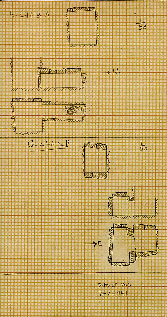 Maps and plans: G 2461a, Shaft A and B