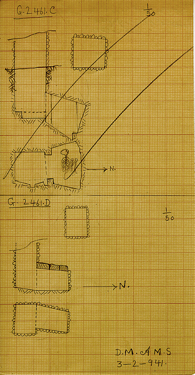 Maps and plans: G 2461, Shaft C and D