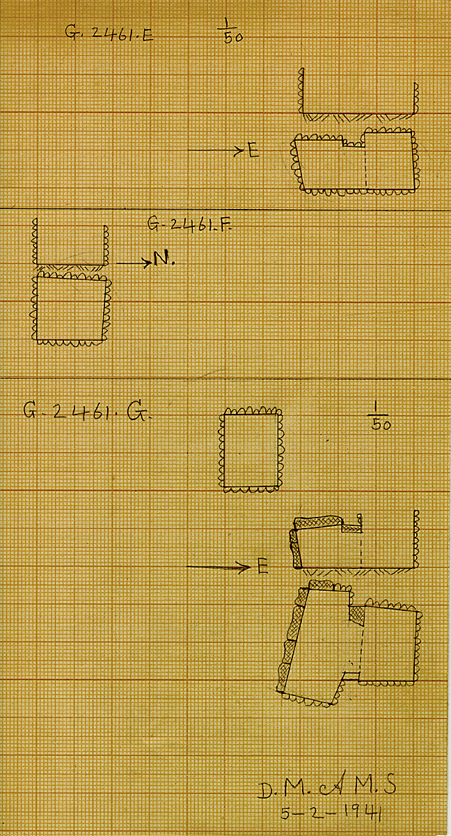 Maps and plans: G 2461, Shaft E, F, G