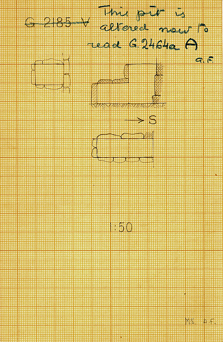Maps and plans: G 2464a, Shaft A