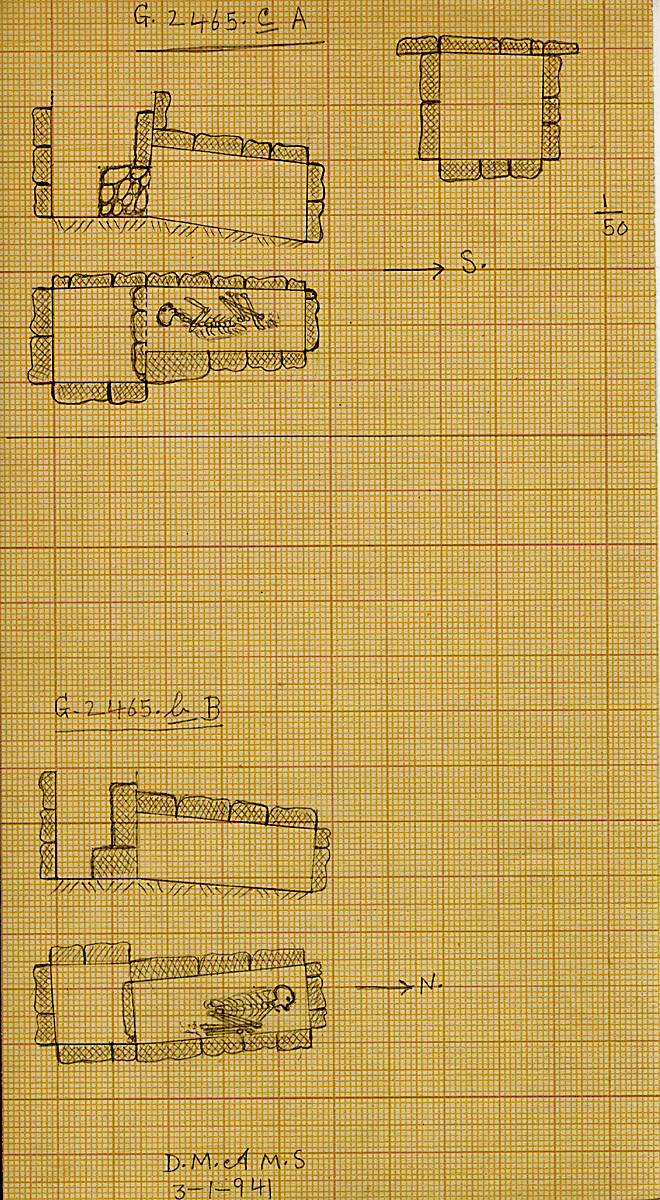 Maps and plans: G 2465c, Shaft A & G 2465b, Shaft B