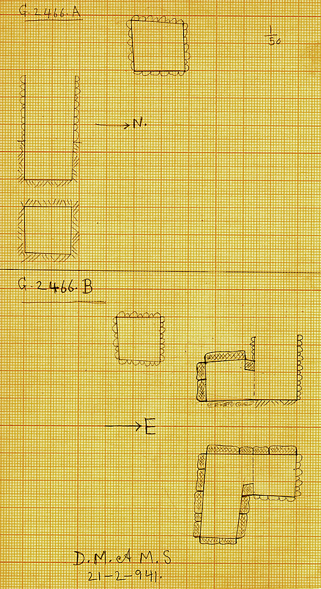 Maps and plans: G 2466, Shaft A and B