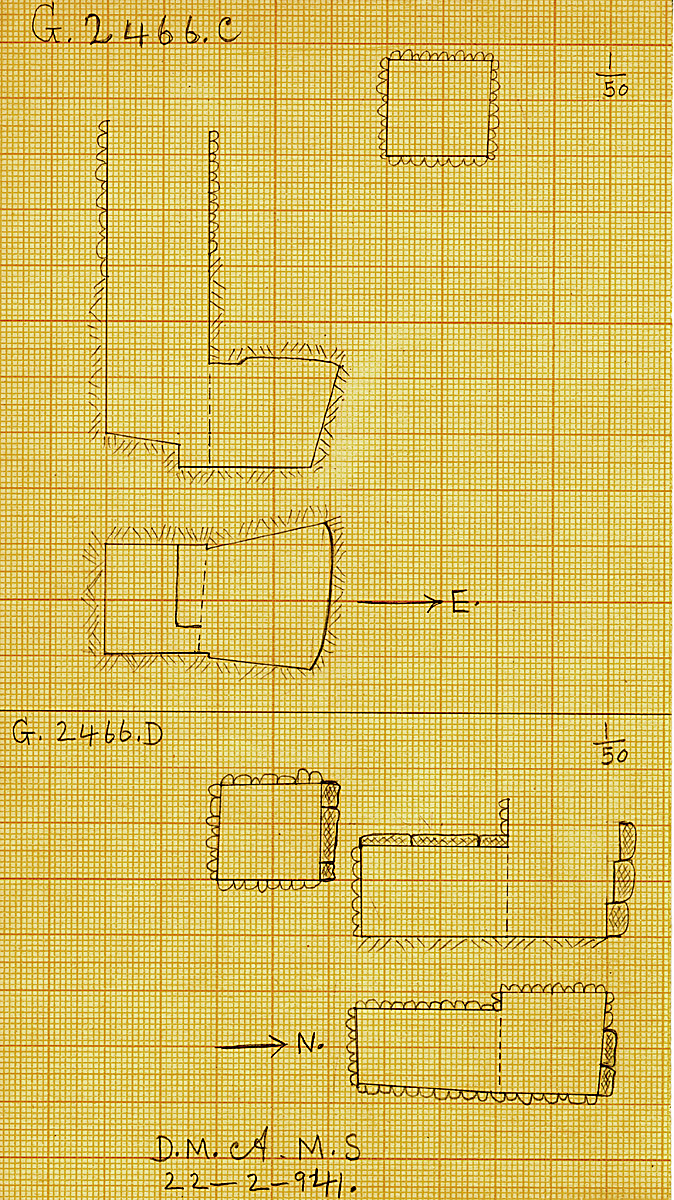 Maps and plans: G 2466, Shaft C and D