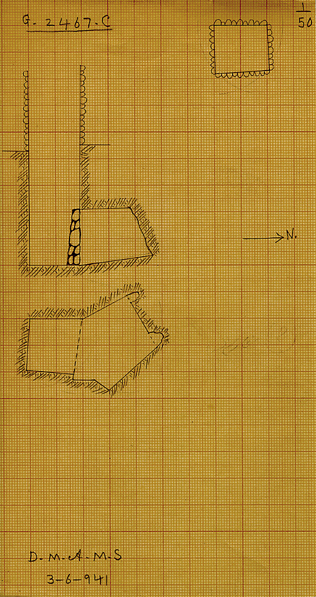 Maps and plans: G 2467, Shaft C