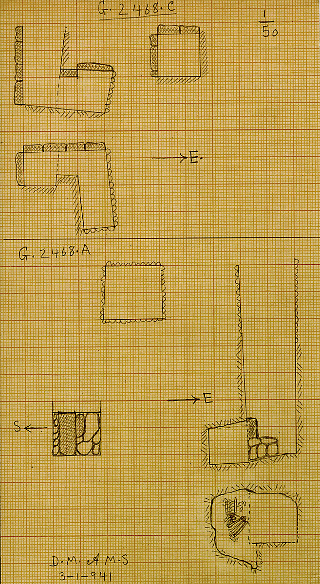 Maps and plans: G 2468, Shaft A and C