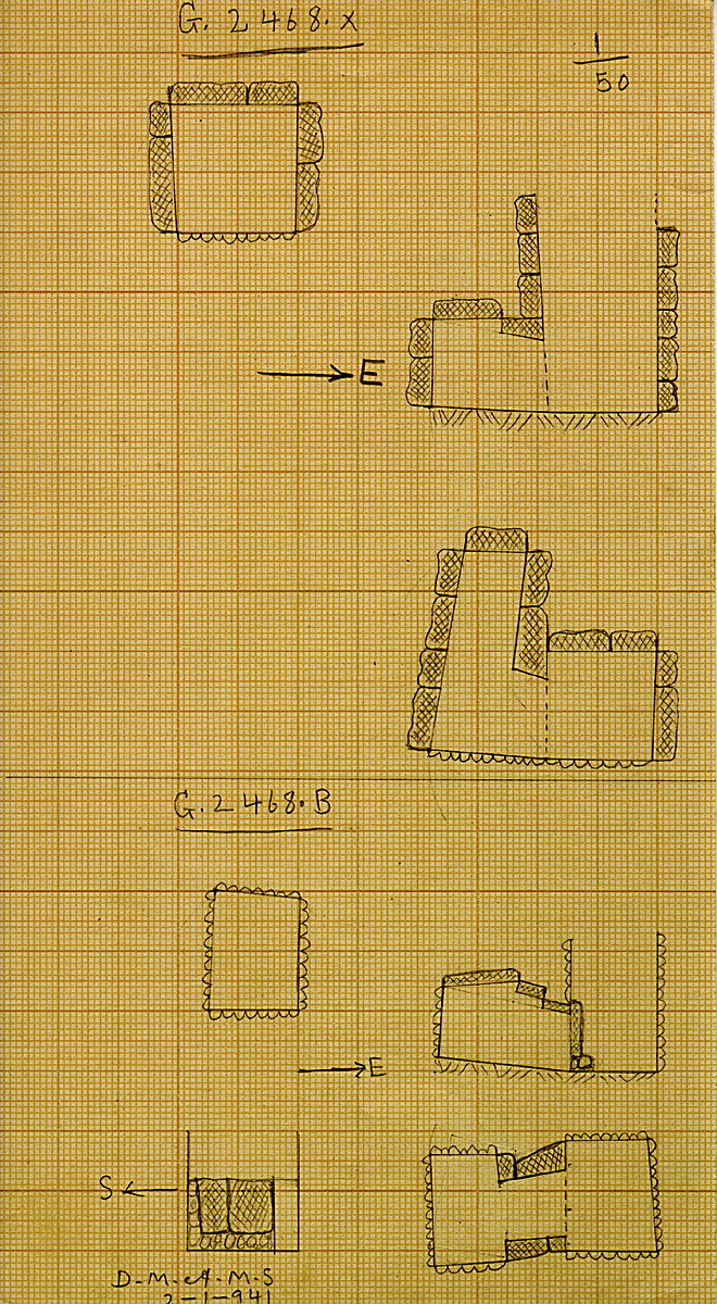 Maps and plans: G 2468, Shaft B and X