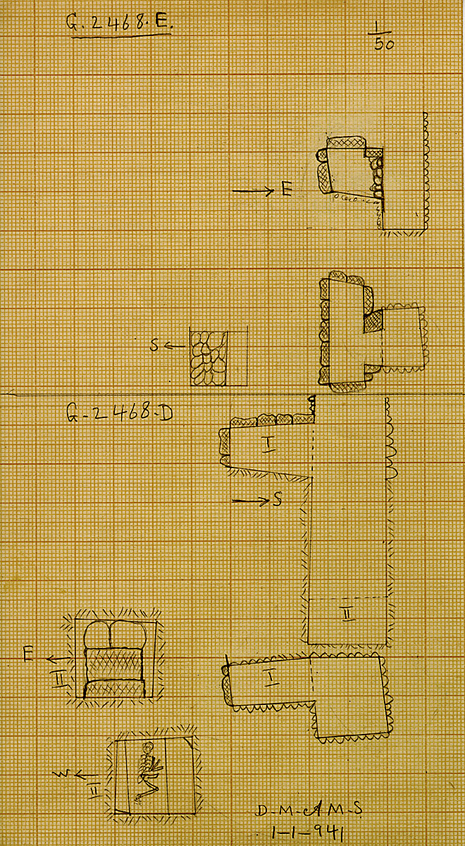 Maps and plans: G 2468, Shaft D and E