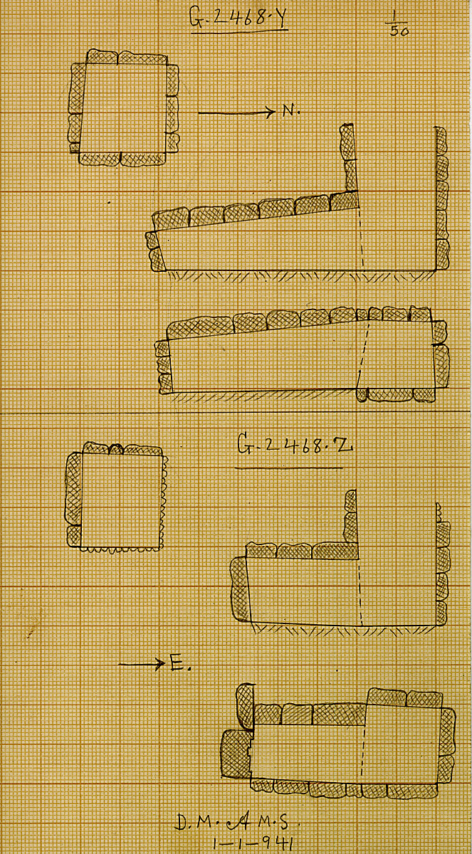Maps and plans: G 2468, Shaft Y and Z