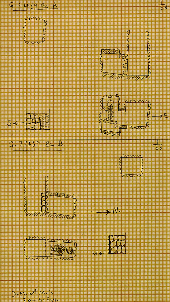 Maps and plans: G 2469a, Shaft A and B