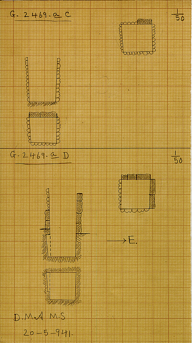 Maps and plans: G 2469a, Shaft C and D