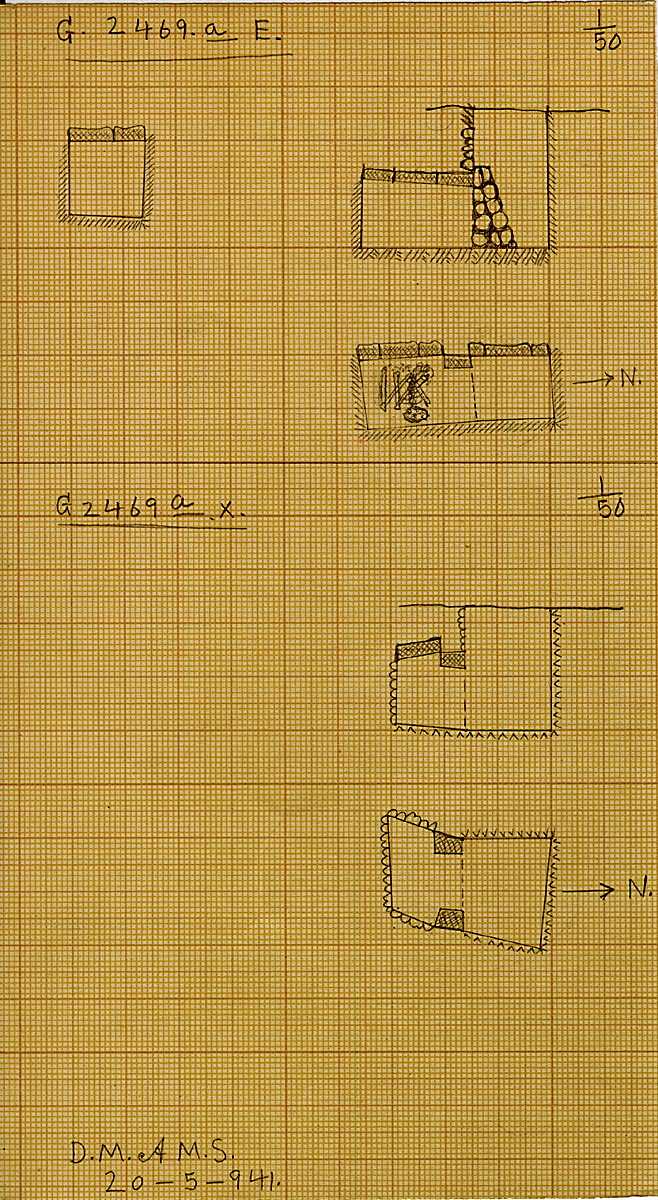 Maps and plans: G 2469a, Shaft E and X