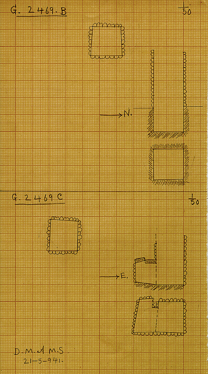 Maps and plans: G 2469, Shaft B and C