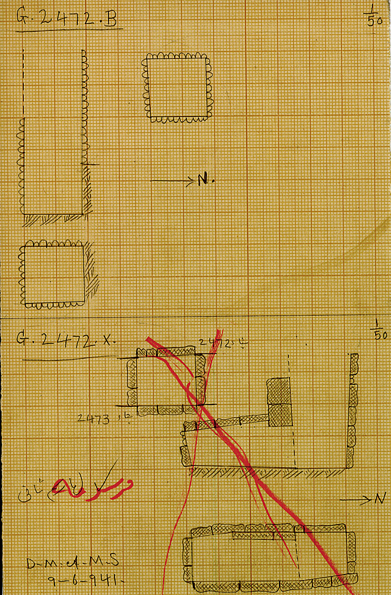 Maps and plans: G 2472, Shaft B