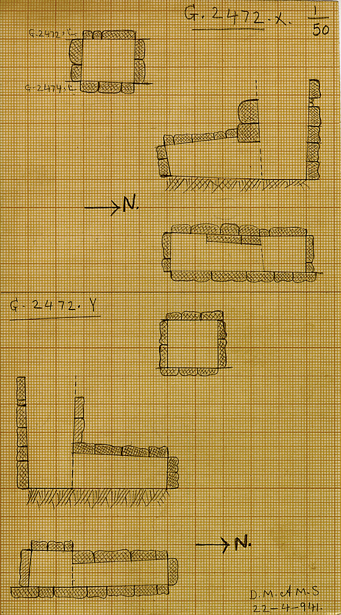 Maps and plans: G 2472, Shaft X and Y