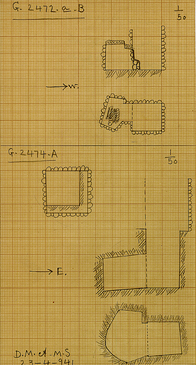 Maps and plans: G 2472a, Shaft B & G 2474, Shaft A