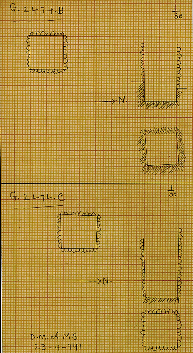 Maps and plans: G 2474, Shaft B and C