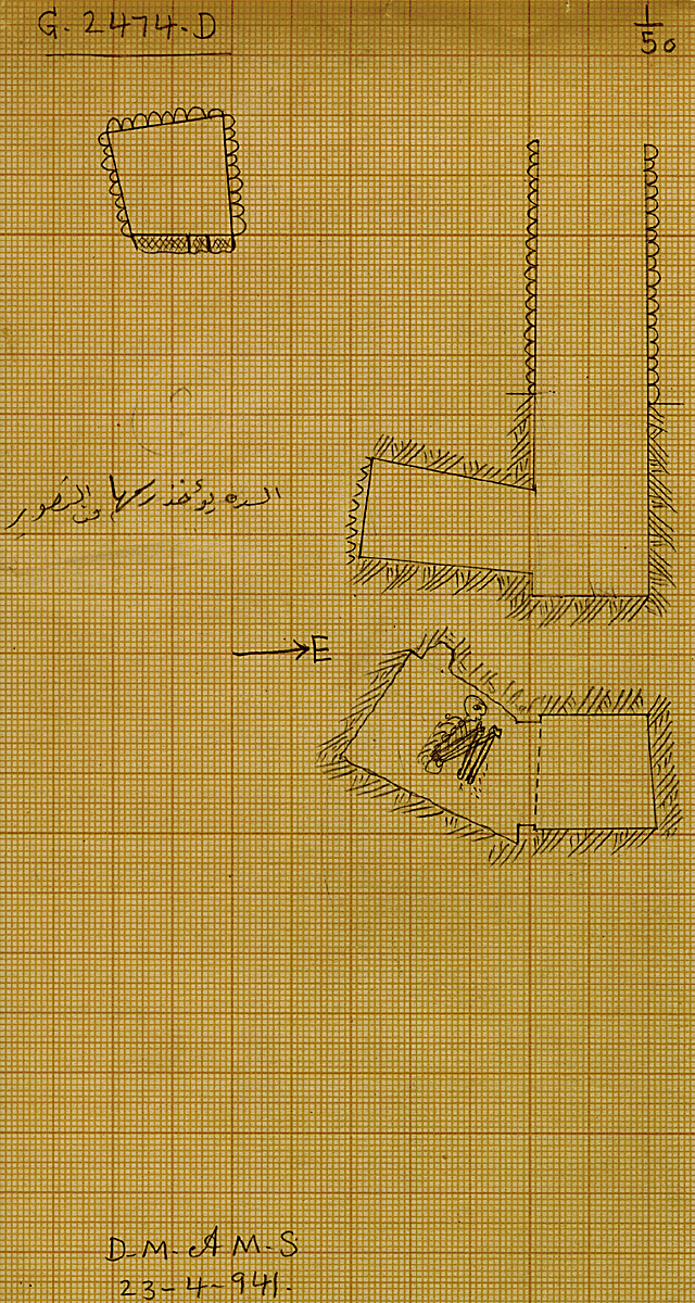 Maps and plans: G 2474, Shaft D