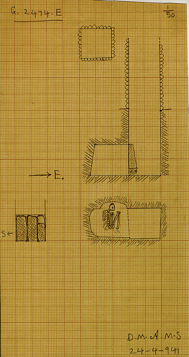 Maps and plans: G 2474, Shaft E
