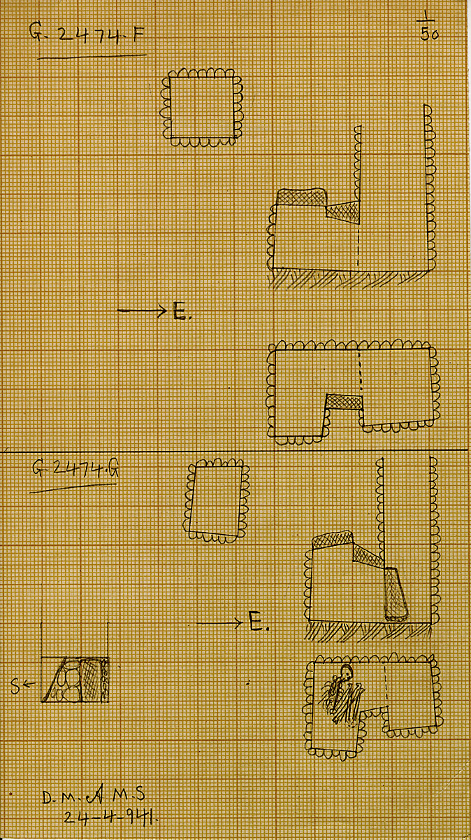 Maps and plans: G 2474, Shaft F and G