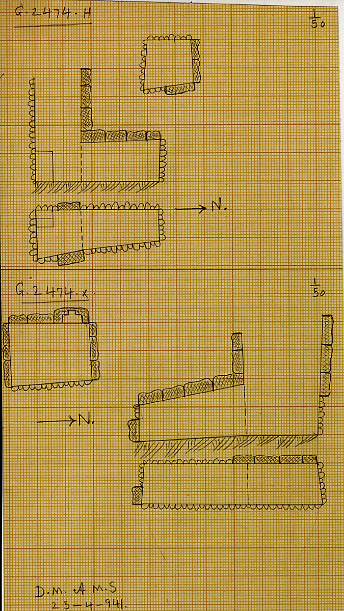 Maps and plans: G 2474, Shaft H and X