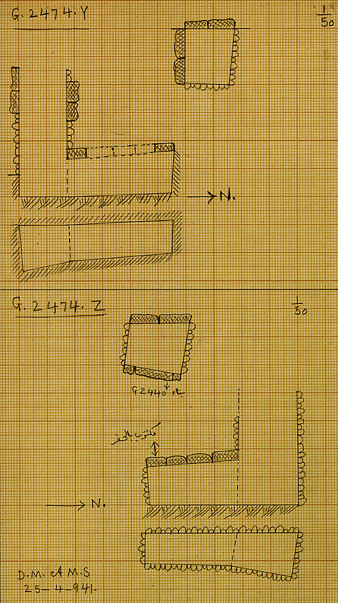 Maps and plans: G 2474, Shaft Y and Z