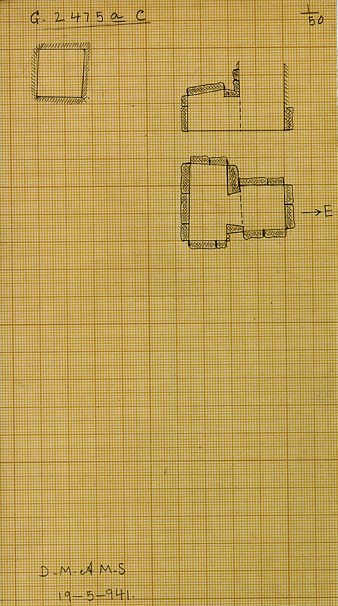 Maps and plans: G 2475a, Shaft C