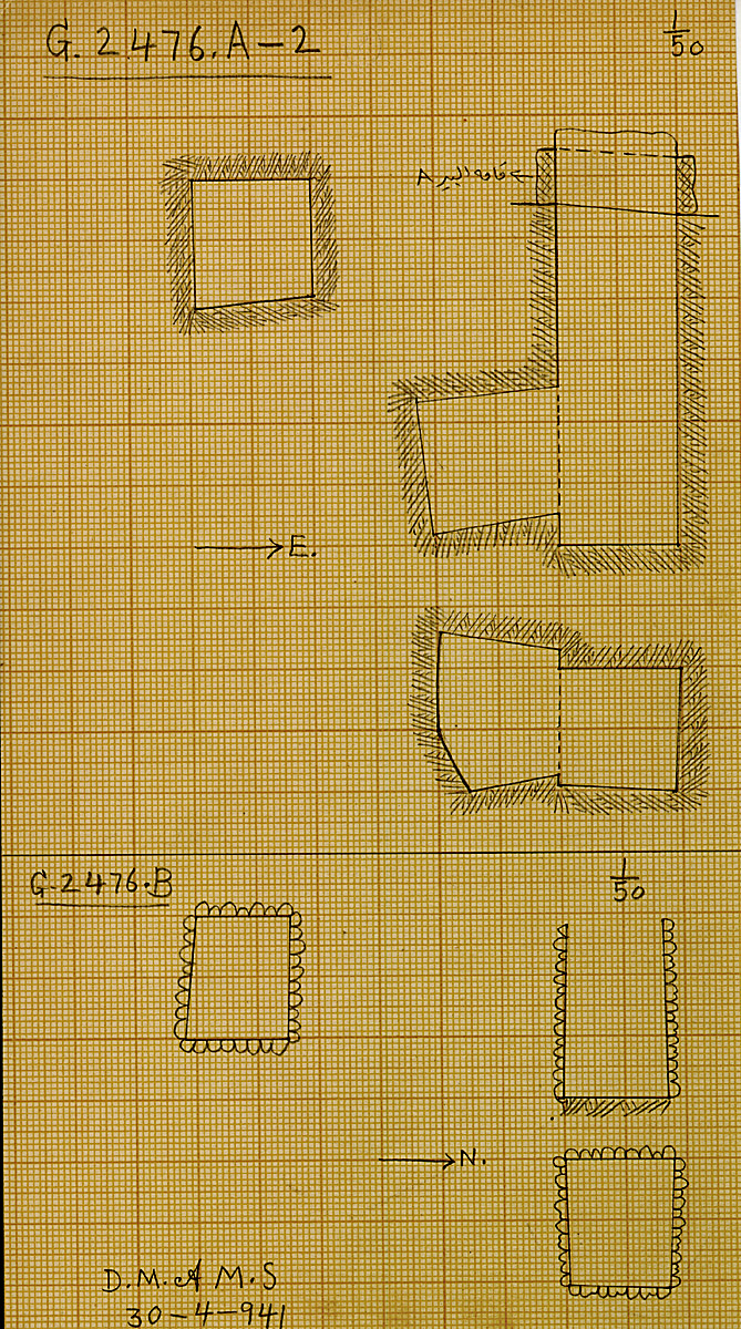 Maps and plans: G 2476, Shaft A2 and B