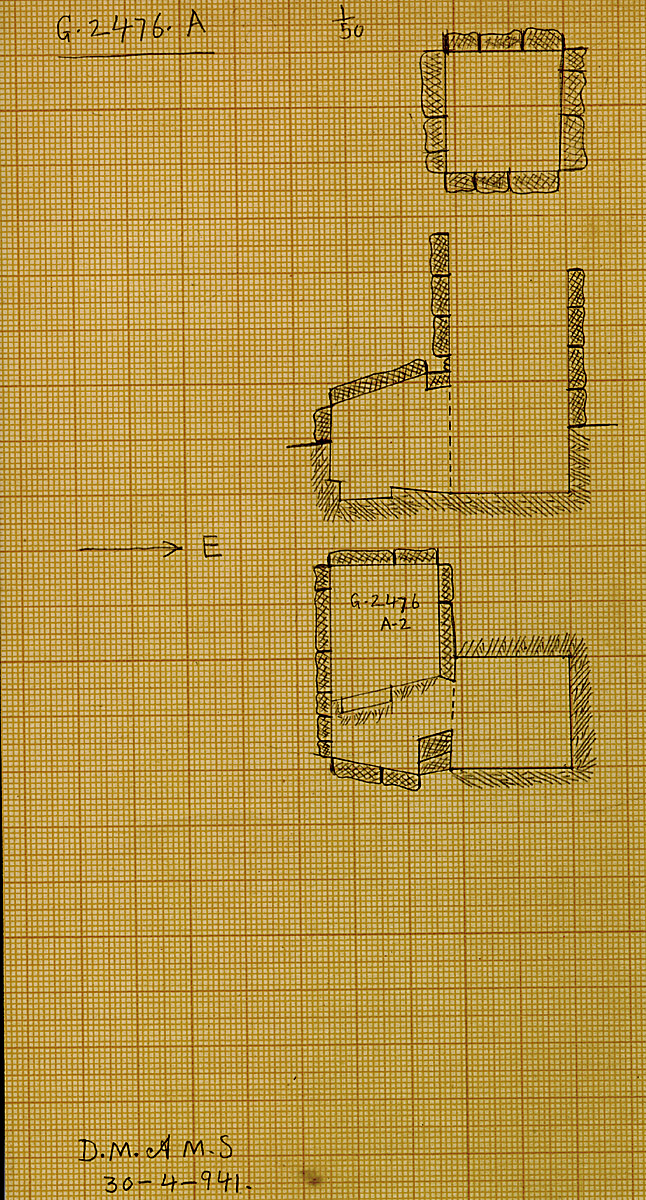 Maps and plans: G 2476, Shaft A