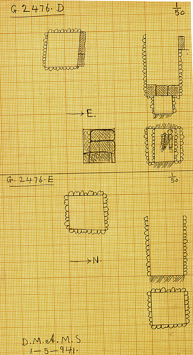 Maps and plans: G 2476, Shaft D and E