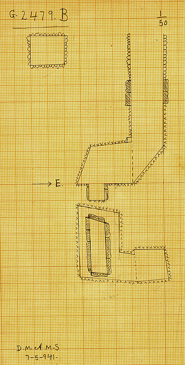Maps and plans: G 2479, Shaft B