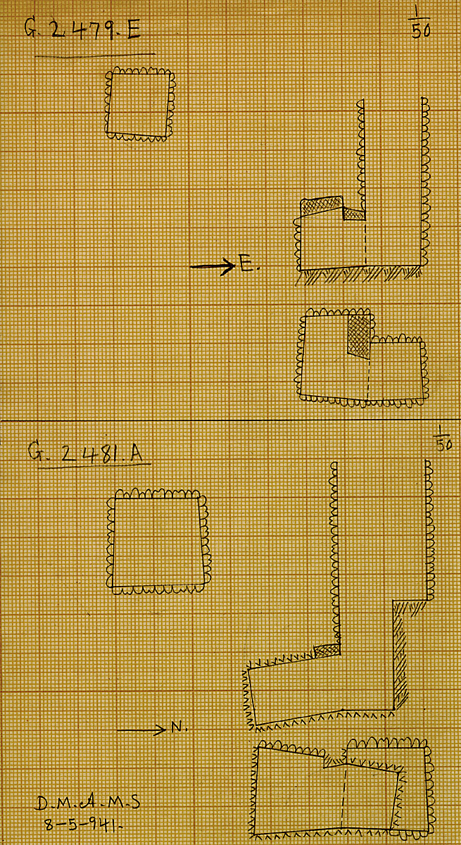 Maps and plans: G 2479, Shaft E & G 2481, Shaft A