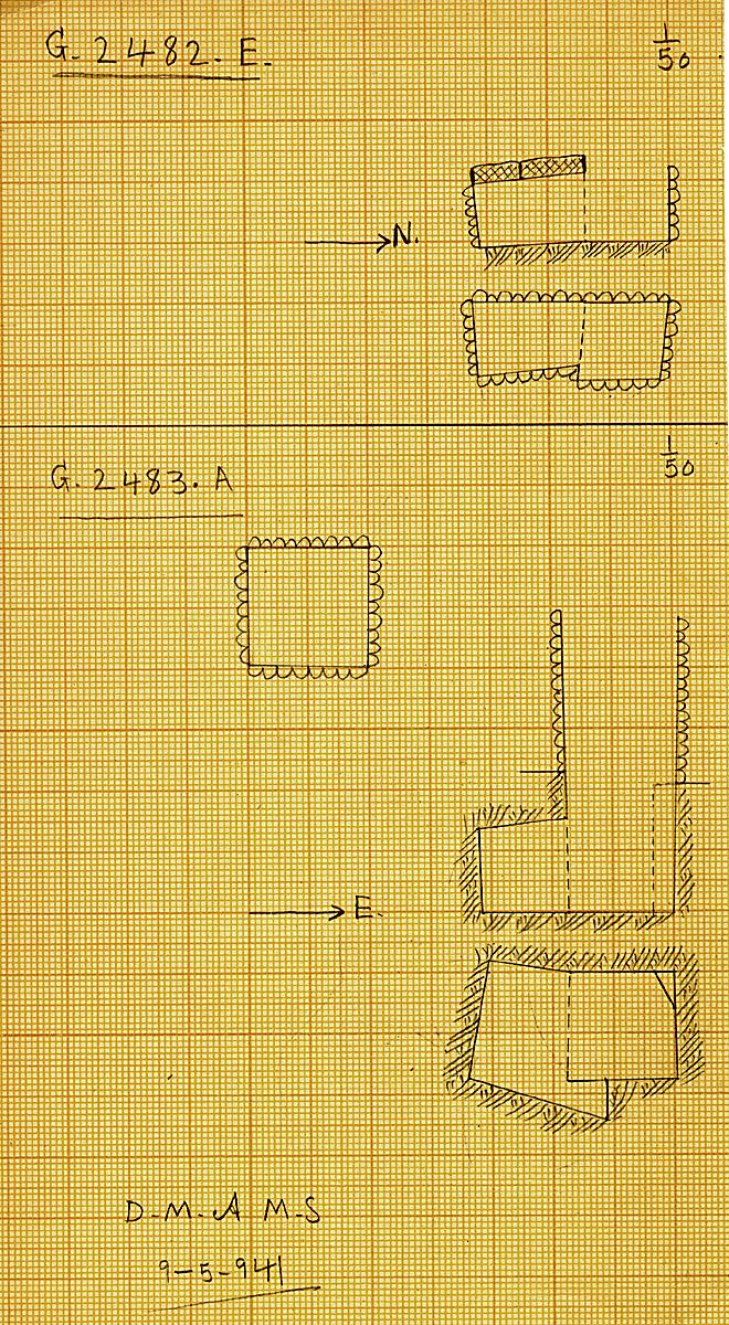 Maps and plans: G 2482, Shaft E & G 2483, Shaft A