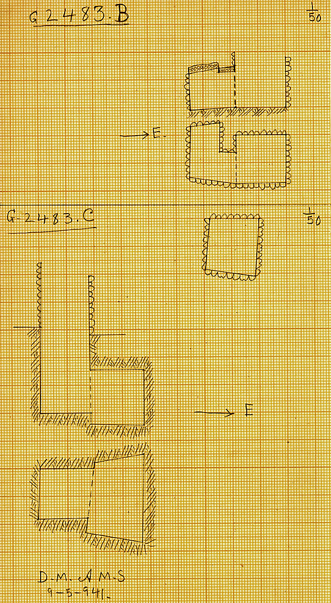 Maps and plans: G 2483, Shaft B and C