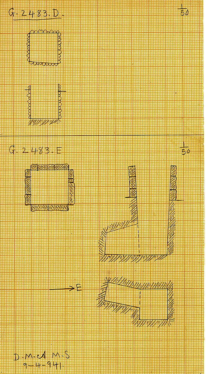 Maps and plans: G 2483, Shaft D and E