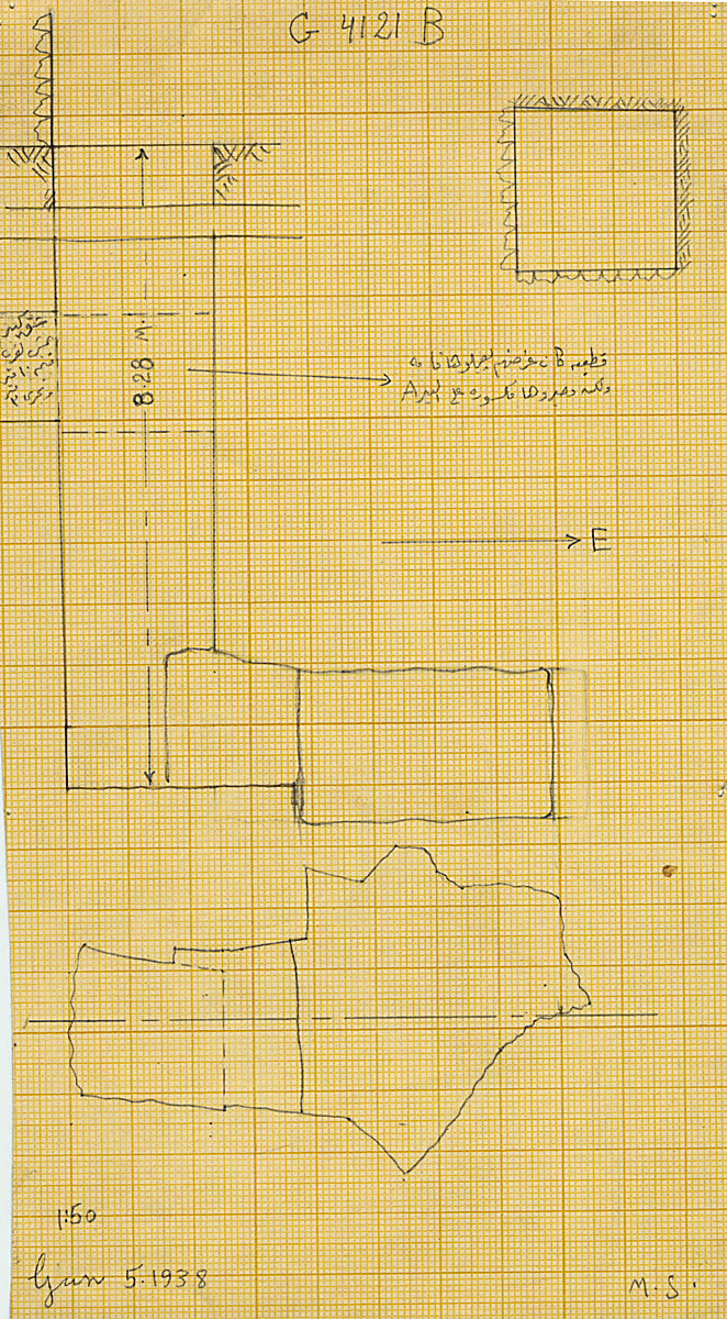 Maps and plans: G 4121, Shaft B