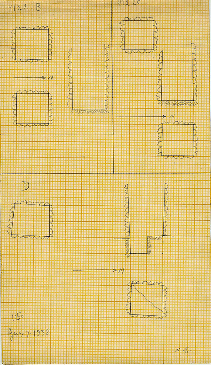 Maps and plans: G 4122, Shaft B, C, D