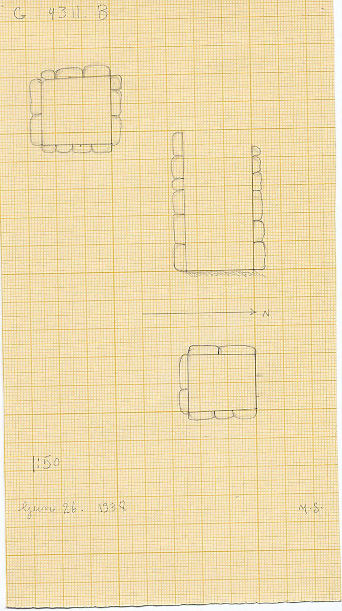 Maps and plans: G 4311, Shaft B