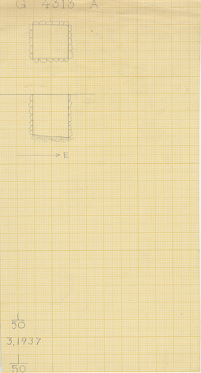 Maps and plans: G 4313, Shaft A