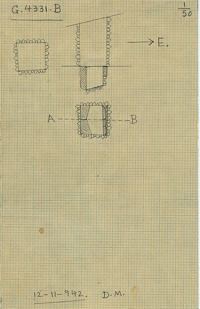 Maps and plans: G 4331, Shaft B