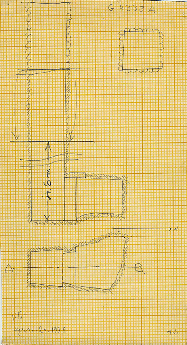 Maps and plans: G 4333, Shaft A