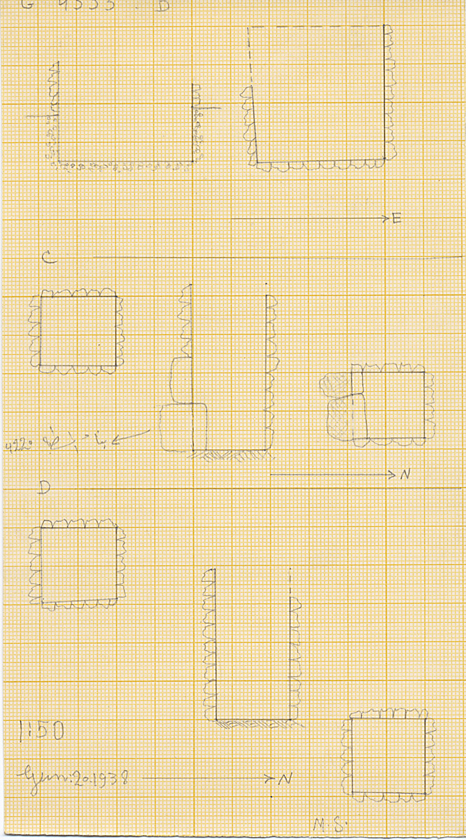 Maps and plans: G 4333, Shaft B, C, D