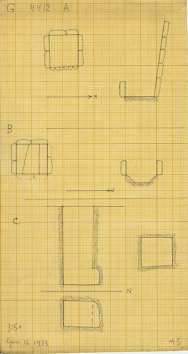 Maps and plans: G 4412, Shaft A, B, C