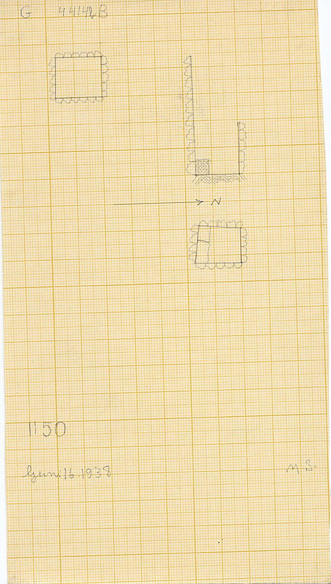 Maps and plans: G 4414b, Shaft B