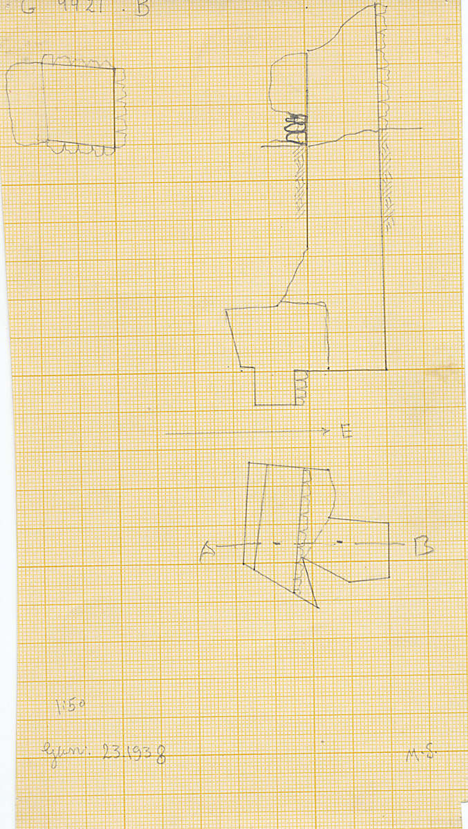Maps and plans: G 4421, Shaft B