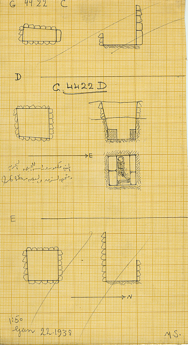 Maps and plans: G 4422, Shaft C, D, E