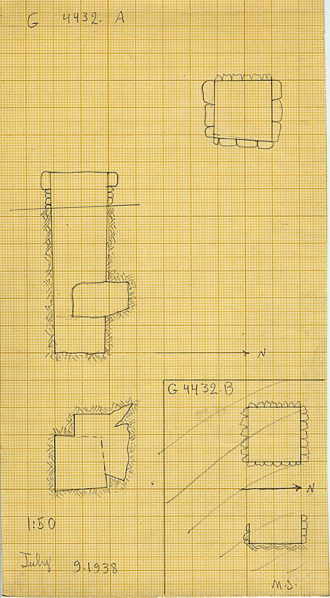 Maps and plans: G 4432, Shaft A and B