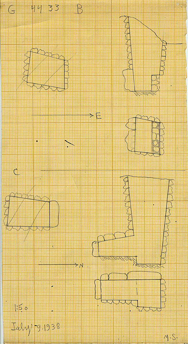 Maps and plans: G 4433, Shaft B and C